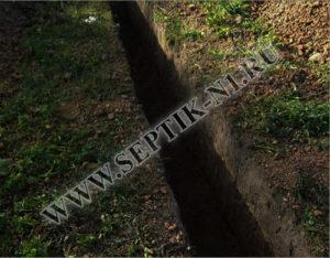Копка траншеи под водопровод цена