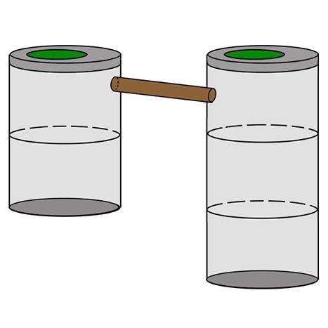 двухкамерный септик 2+3