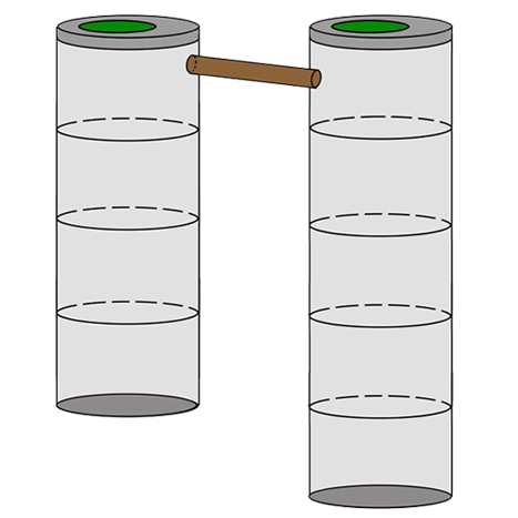 двухкамерный септик 4+5