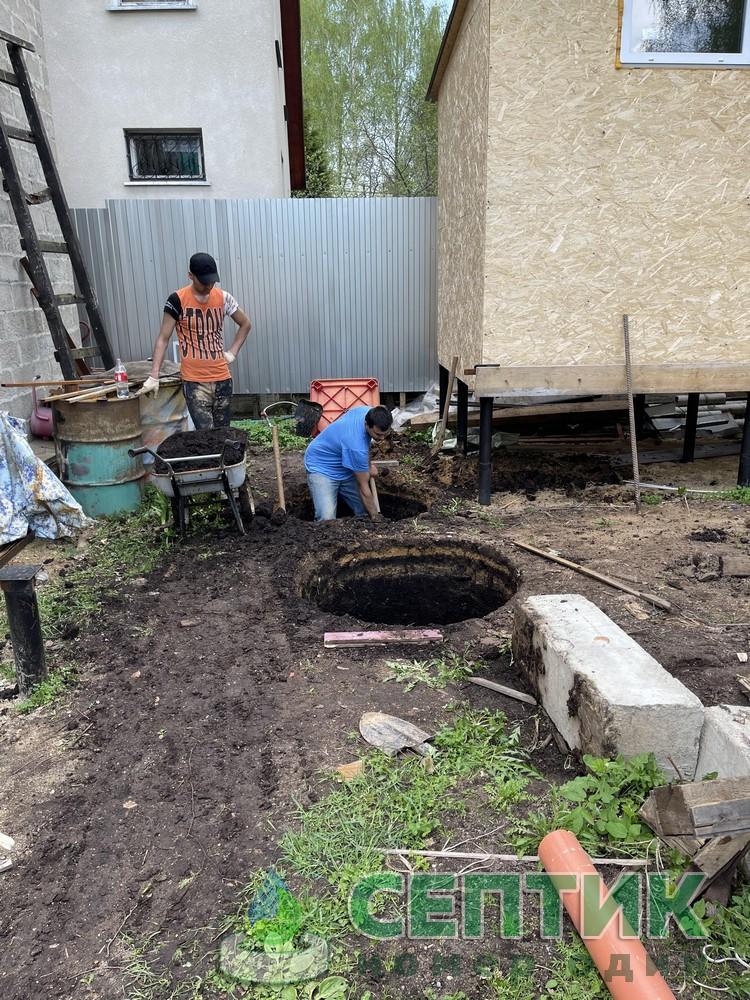 Септик из колец для дома Сергиево-Посадский район