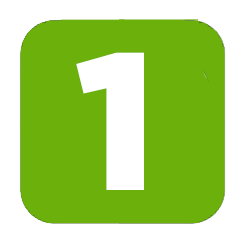 Иконка цифра 1